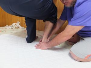 再度、足首の場脱臼を整復する