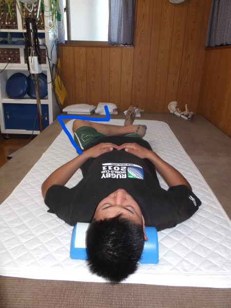 左股関節の可動域低下が原因